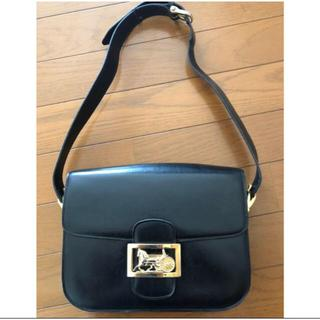 celine - CELINE Shoulder bag leather BlackVintage