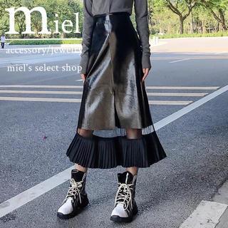jouetie - leather see-through skirt/レザーシースルースカート