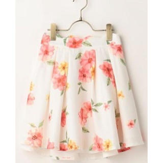 LIZ LISA - 水彩花柄スカート レッド LIZ LISA 新品 未使用 送料込み