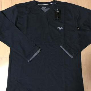 FILA - FILA. 長袖Vネックシャツ ネイビー Lサイズ