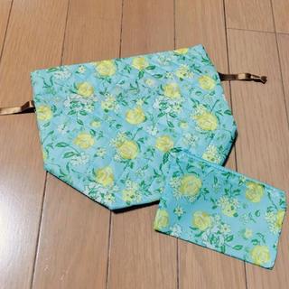 ディーエイチシー(DHC)の花柄巾着&ミニポーチ(ポーチ)