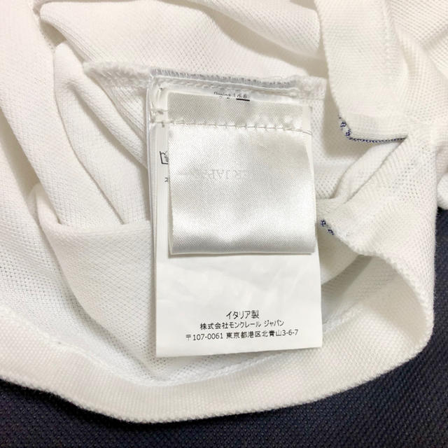 MONCLER(モンクレール)のサイズM 白 moncler gamme bleu ガムブルー  銀座直営店購入 メンズのトップス(ポロシャツ)の商品写真