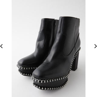 マウジー(moussy)のmoussy WOOD SOLE ブーツ (ブラック)(ブーツ)