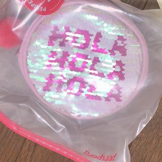 スタイルナンダ(STYLENANDA)の非売品 韓国 ペリペラ スパンコール ピンク ミニ ポーチ(ポーチ)