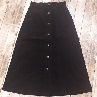 GU - GU コーデュロイフロントボタンスカート