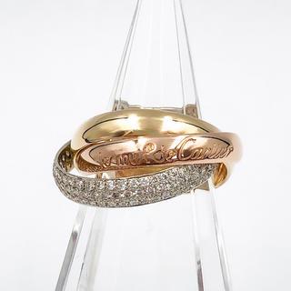 カルティエ(Cartier)の【仕上済】カルティエ トリニティリング ダイヤ 8号 レディース 指輪 リング(リング(指輪))