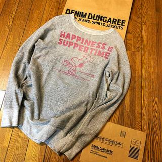 デニムダンガリー(DENIM DUNGAREE)の美品 デニム&ダンガリー  スヌーピー  落書き スウェット 160 ママ(Tシャツ/カットソー)