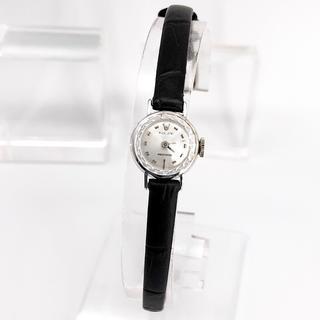 ロレックス(ROLEX)の【仕上済】ロレックス プレシジョン K18WG カットガラス レディース 腕時計(腕時計)