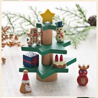 カルディ(KALDI)のカルディ  クリスマスツリーバランスゲーム(積み木/ブロック)