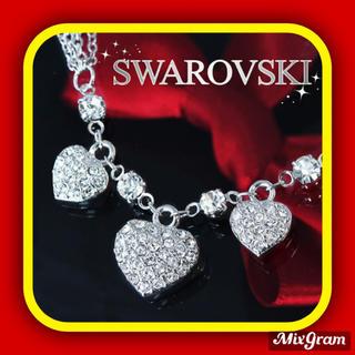 SWAROVSKI - ✨定価9800円✨★SWAROVSKI★ハート ネックレス  K18GP