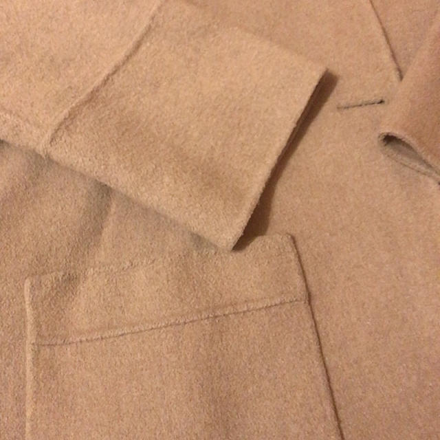 ZARA(ザラ)の値下げ交渉◎ZARA BASIC ハンドメイドノーカラーウールコート レディースのジャケット/アウター(ノーカラージャケット)の商品写真