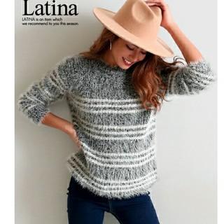 アナップラティーナ(ANAP Latina)のLatina  シャギーニット ボーダー ふわふわ(ニット/セーター)