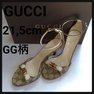 グッチ(Gucci)のGUCCI グッチ サンダル ピンヒール 21.5cm バンブー GG柄 GG(サンダル)