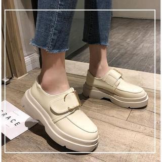 美脚 韓国 新作  レディース  ブーツ   (ローファー/革靴)