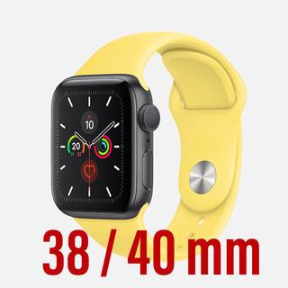 アップルウォッチ(Apple Watch)のApple Watch ベルト スポーツバンド 38 40 イエロー(腕時計)