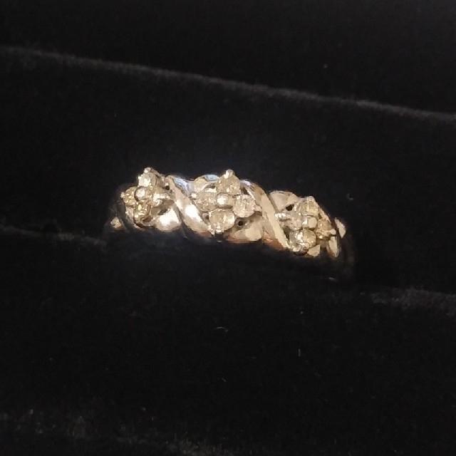 ダイアリング プラチナ ダイヤモンド レディースのアクセサリー(リング(指輪))の商品写真