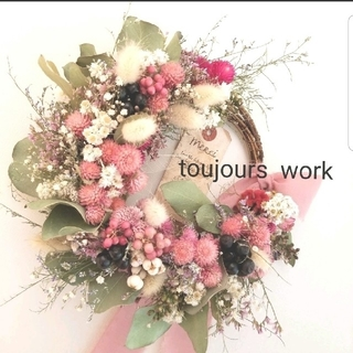 ◆ドライフラワーリース◆natural flower◇◇(ドライフラワー)