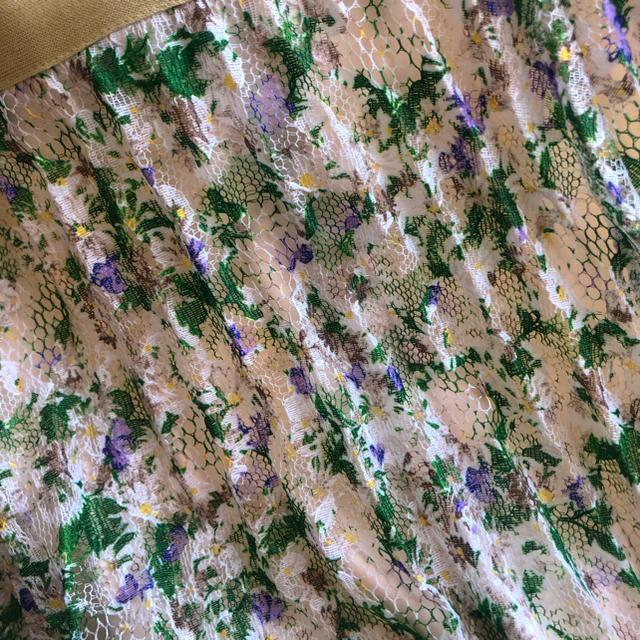 FRAY I.D(フレイアイディー)のFRAY.ID♡レースプリントプリーツスカート レディースのスカート(ロングスカート)の商品写真