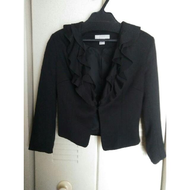 H&M(エイチアンドエム)の美品 H&M ジャケットサイズ36黒 レディースのジャケット/アウター(ノーカラージャケット)の商品写真