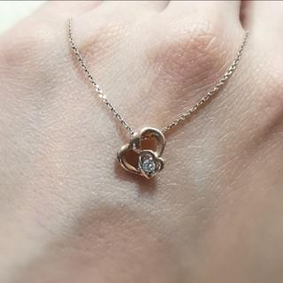 4℃ - 4℃ k10 ピンクゴールド ネックレス ハート ダイヤモンド 限定品