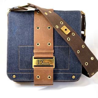 クリスチャンディオール(Christian Dior)の極美品 クリスチャン ディオール ストリートシック デニム ショルダー バッグ(ショルダーバッグ)