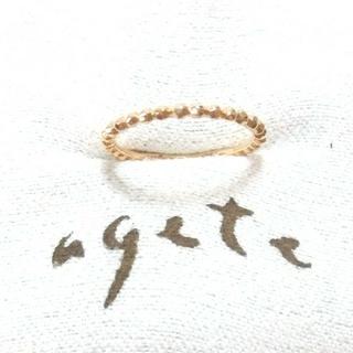 アガット(agete)のアガット K10ピンキーリング 1号(リング(指輪))