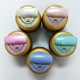 ◆キラキラパールカラー◆ツヤツヤジェル5色セット カラージェル(カラージェル)
