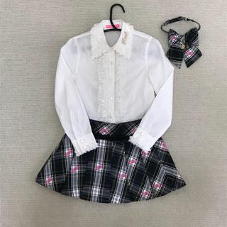 ロニィ(RONI)のRONI ロニィ 130cm 入学式 ジャケット スカート  リボンタイ(ドレス/フォーマル)