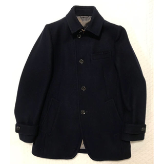 COMME CA MEN - コムサメン ウールコート Sサイズ 美品 ネイビー
