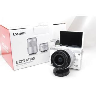 Canon - ♡WiFi&自撮り&女性人気♡Canon EOS M100 レンズキットホワイト