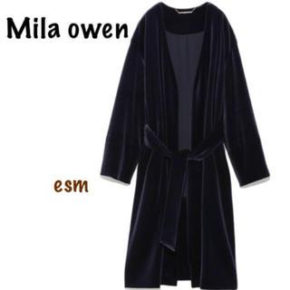 ミラオーウェン(Mila Owen)のMila owen☆ミラオーウェン☆ベルベットガウンコート(ロングコート)