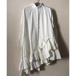 ZARA - プリーツフリル ロングシャツ ワンピース ☆ コムデギャルソン ザラ 好きな方