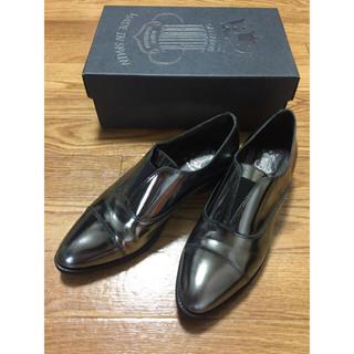FABIO RUSCONI - 美品 メタリックシルバー靴 チャーチ ペリーコ  ドゥーズィエムクラス