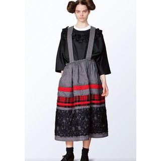 コムデギャルソン(COMME des GARCONS)の2017 comme des garcons コムコム ワンピース 吊りスカート(ロングスカート)