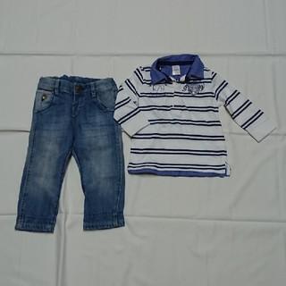 ザラキッズ(ZARA KIDS)のZARAザラ長袖カットソーデニムセット80㎝男の子(Tシャツ/カットソー)