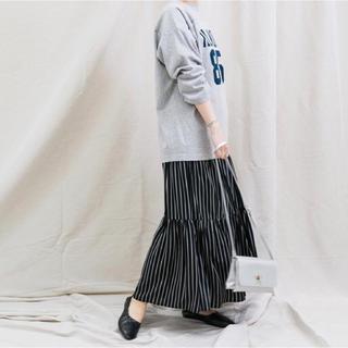 CAPRICIEUX LE'MAGE - 新品 カプリシューレマージュ ストライプティアードスカート