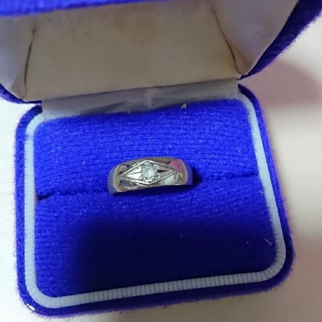 【最終値下げ】一粒ジルコニアのシルバーリング レディースのアクセサリー(リング(指輪))の商品写真