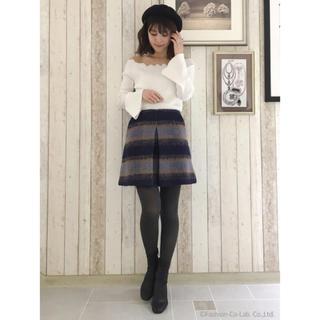 マーキュリーデュオ(MERCURYDUO)のMERCURYDUO シャギーチェック台形スカート(ミニスカート)