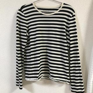 MUJI (無印良品) - 無印良品 ボーダー長袖Tシャツ