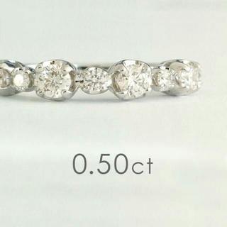 美品 k18 ホワイトゴールド ダイヤモンドリング(リング(指輪))