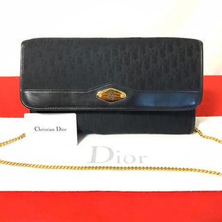 クリスチャンディオール(Christian Dior)の美品 希少 ディオール ヴィンテージ ショルダーバッグ トロッター ブラック(ショルダーバッグ)
