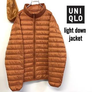 ユニクロ(UNIQLO)の美品 UNIQLO ウルトラ ライトダウン ジャケット オレンジ W-13(ダウンジャケット)