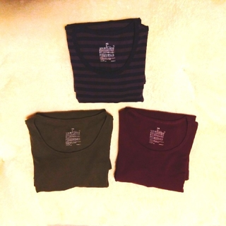 ムジルシリョウヒン(MUJI (無印良品))のストレッチフライス編みクルーネック長袖Tシャツ(Tシャツ(長袖/七分))