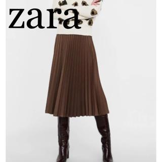 ZARA - 新品 XS  ZARA ツイード柄プリーツスカート