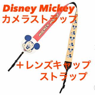 Disney - 【新品!】Mickey カメラストラップ・レンズキャップストラップ