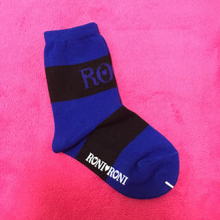 ロニィ(RONI)の新品★RONI★ブルーソックス★M(靴下/タイツ)