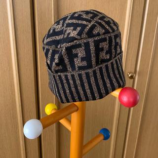 フェンディ(FENDI)のフェンディ【未使用品】ズッカ柄ニット帽 (ニット帽/ビーニー)