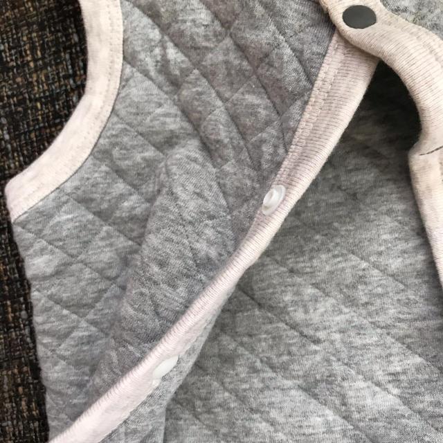 petit main(プティマイン)のプテイマイン キルティングベスト グレー キッズ/ベビー/マタニティのベビー服(~85cm)(その他)の商品写真