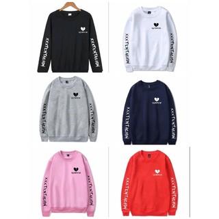 ★男女兼用★袖ロゴハートトレーナー 黒 白 赤 灰 ピンク ネイビー(Tシャツ/カットソー(七分/長袖))