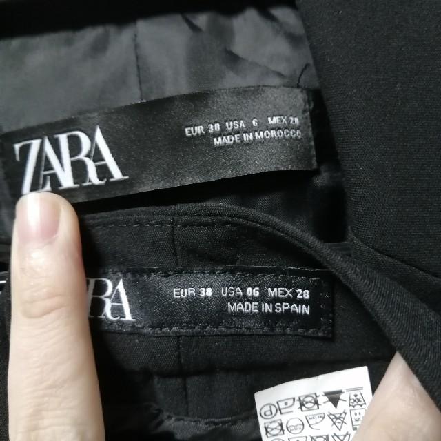 ZARA(ザラ)の美品ZARAパンツスーツセットアップ春夏物38 レディースのフォーマル/ドレス(スーツ)の商品写真